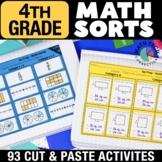 4th Grade Math Sorts | 4th Grade Math Games | Math Interactive Notebook