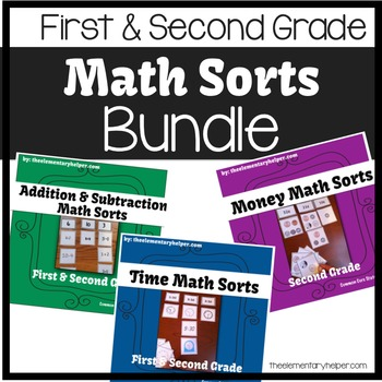 Math Sorts BUNDLE: First and Second Grade