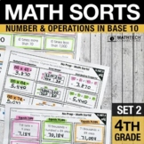 4th Grade Place Value Math Centers - Math Sorts Interactive Math Notebook