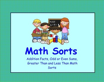 Math Sorts SMART Notebook with Worksheets