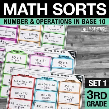 Math Sorts - Set 1: Rounding, Addition, Subtraction & More!