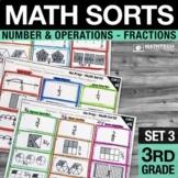 3rd Grade Fractions Math Centers 3rd Grade Interactive Math Notebook Math Sorts