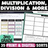 Math Sorts - Multiplication and Division Math Games Math Centers - Set 5