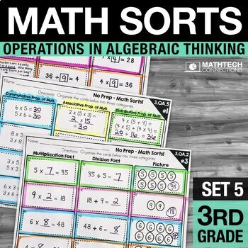 Math Sorts - Set 5: Multiplication and Division