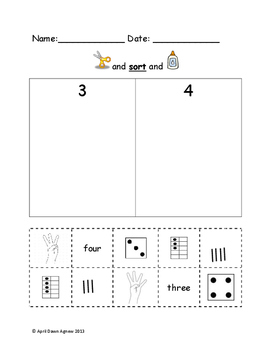 Math Sorts and Number ID - Counting Assessments Packet