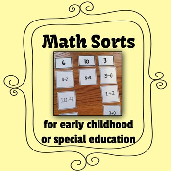 Math Sorts for Special Education