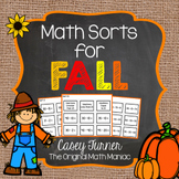 Math Sorts for Fall