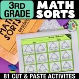 3rd Grade Math Sorts | 3rd Grade Math Games | Math Interactive Notebook