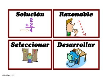 Math Spanish Vocabulary Cards for Pre-K and Kinder