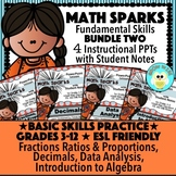 Math Sparks Bundle Two!  Basic Math Skills!