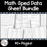 Math Special Education Data Sheet Bundle (Number ID, Counting, Equations & More)