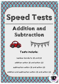 Math Speed Tests - Up to 10 and 20 (UK Spelling)