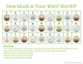 Math + Spelling= How Much is Your Word Worth? {CANADIAN COINS}