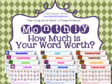Math + Spelling = How Much is Your Word Worth? {Monthly Co