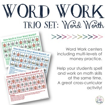 Math + Spelling= How Much is Your Word Worth? {BUNDLE}