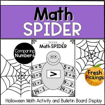 Math Spider- Halloween Activity & Bulletin Board Display