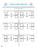 Math Spin And Solve Fraction Worksheet