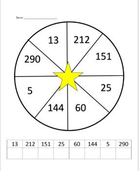Math Spinner - Base Ten