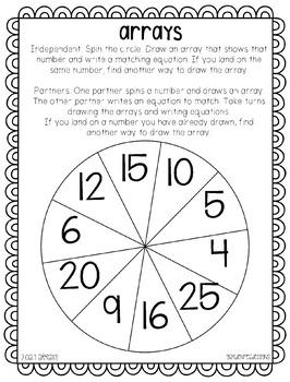 Math Spinner Games - OA