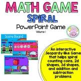 Math Spiral PowerPoint Game 1st grade