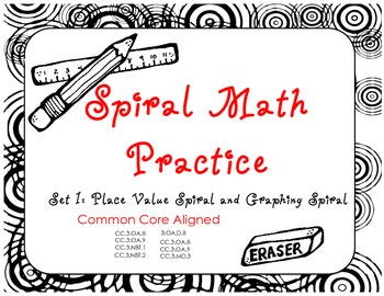 Math Spiral Practice Pages- Third Grade