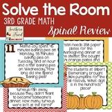 Thanksgiving Math Spiral Review - 3rd Grade