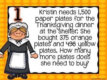 Thanksgiving Math Spiral Review