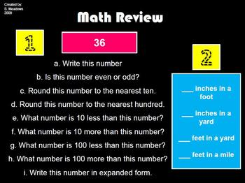 Math Spiral Review 3rd grade weeks 1-36 ENTIRE YEAR!!
