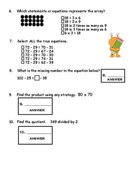Math Spiral Review 4th Grade