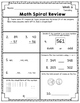 Math Spiral Review - Weeks 6-10