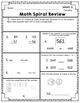 Math Spiral Review - Weeks 6-10