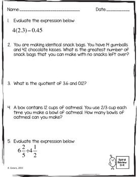 6th Grade Math  mon Core Expressions and Equations Review furthermore Sixth Grade Math Worksheets For And Language Arts 5th Mixed Review additionally  likewise  likewise Math Spiral Review Worksheets October 6th Grade Math   TpT also  moreover 6th grade math review worksheets furthermore 6th grade math review worksheets moreover  further 6th Grade Math Review Worksheets   FreeEducationalResources moreover Sixth grade math worksheets   free   printable   K5 Learning in addition 6th Grade Math Review Worksheets   FreeEducationalResources moreover 6th grade math practice sheets   Frodo fullring co also Simplifying Fractions Word Problems   Free Printables Worksheet moreover Reading  prehension 6th Grade Test Prep Worksheets Ela furthermore Skill Review Worksheets Second Grade Math Review Teaching Resource. on 6th grade math review worksheets