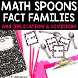Math Spoons Fact Families (Multiplication and Division)