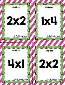 Multiplication Facts Game - Math Spoons Math Activity