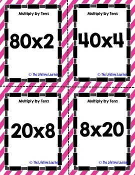 Math Spoons Multiply by Tens