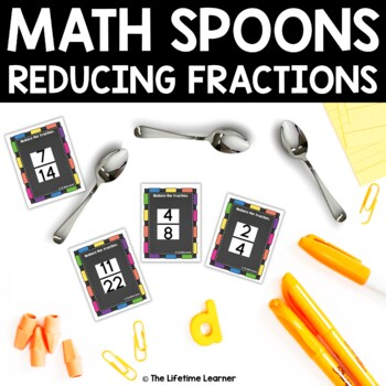 Math Spoons Reducing Fractions Game