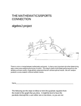Math-Sports Project - Determining the Equation of a Parabola