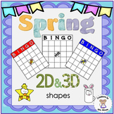 Math- Spring 2D & 3D Shape Bingo