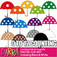 Math Spring Clip Art - Counting Dots In Umbrella (teaching