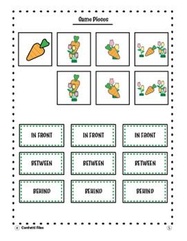 Math- Spring Geometry Positional Words- FILE FOLDER GAME! Kindergarten [Game]
