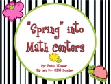 Spring into Math Centers