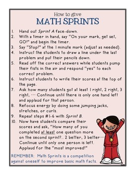 Math Sprints {Grade 3 & Up Edition}