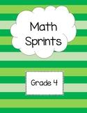 Math Sprints Grade 4