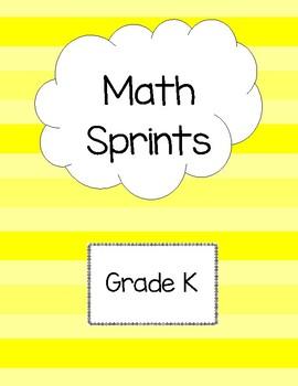 Math Sprints Grade K