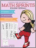 Math Sprints {Kinder Edition}