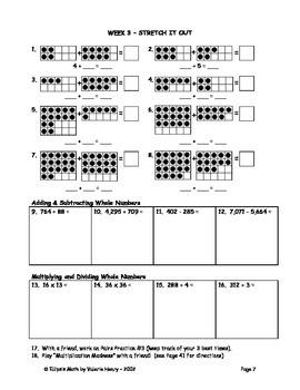 Math Sprints Summer Workbook