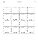 Math Squares Evaluating Expressions Activity