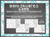 Math Squares Game - Addition and Subtraction with Regrouping, Multiplication