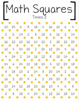 Math Squares-Multiplication