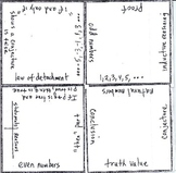Math Squares - Number sets and Logical Statements